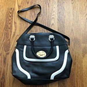 Never used - Emma Fox B&W bag with gold hardware